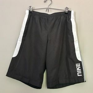 86a124ca4bf24 Nike Black Swim Board Shorts Sz L (14-16)
